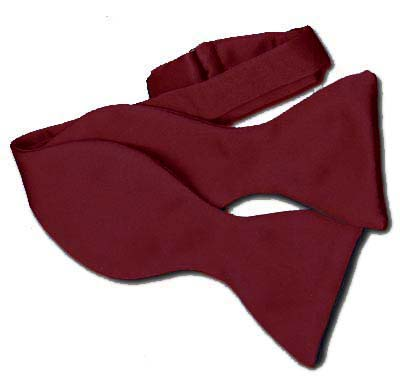 Burgundy Self Tie Bow Tie